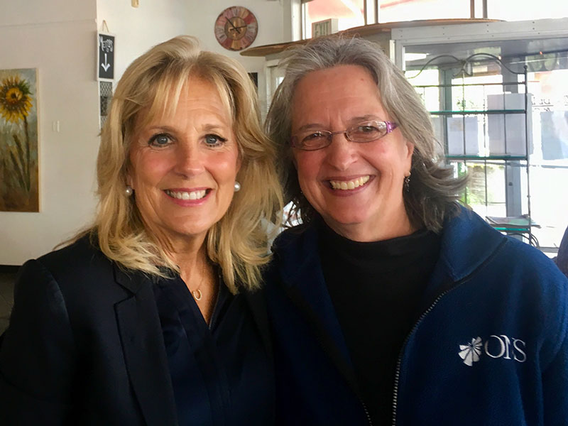 Jill Biden Works With ONS Members and Others to Understand the Caregiver Experience
