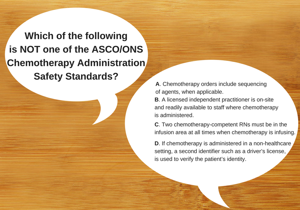 Which Is Not An Ascoons Chemotherapy Safety Standard Ons Voice