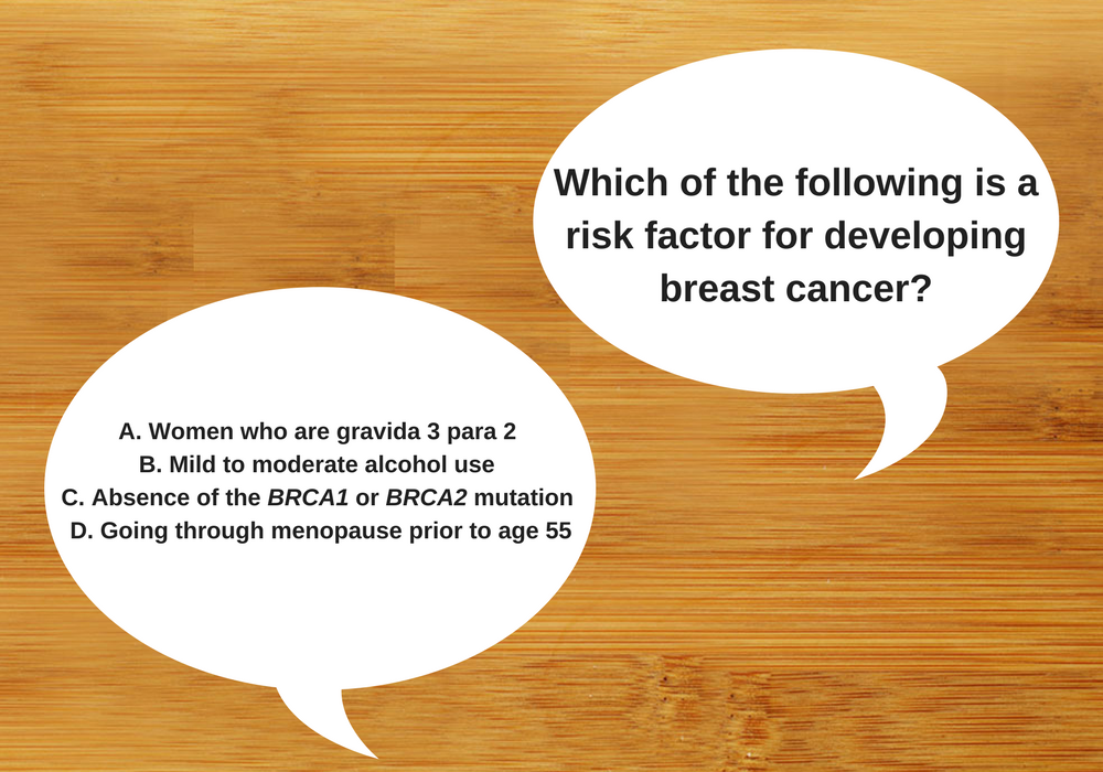 Which Is a Breast Cancer Risk Factor?