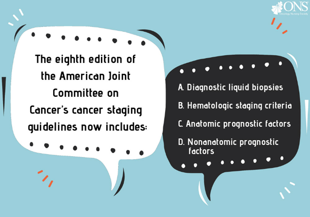 Which of the Following Is Now Included in the Eighth Edition of the AJCC's Cancer Staging Guidelines?