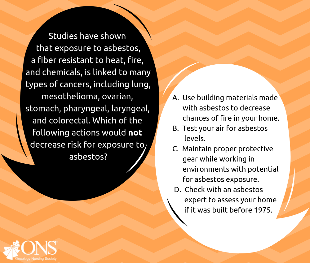 Which of the Following Actions Would Not Decrease Risk for Exposure to Asbestos?