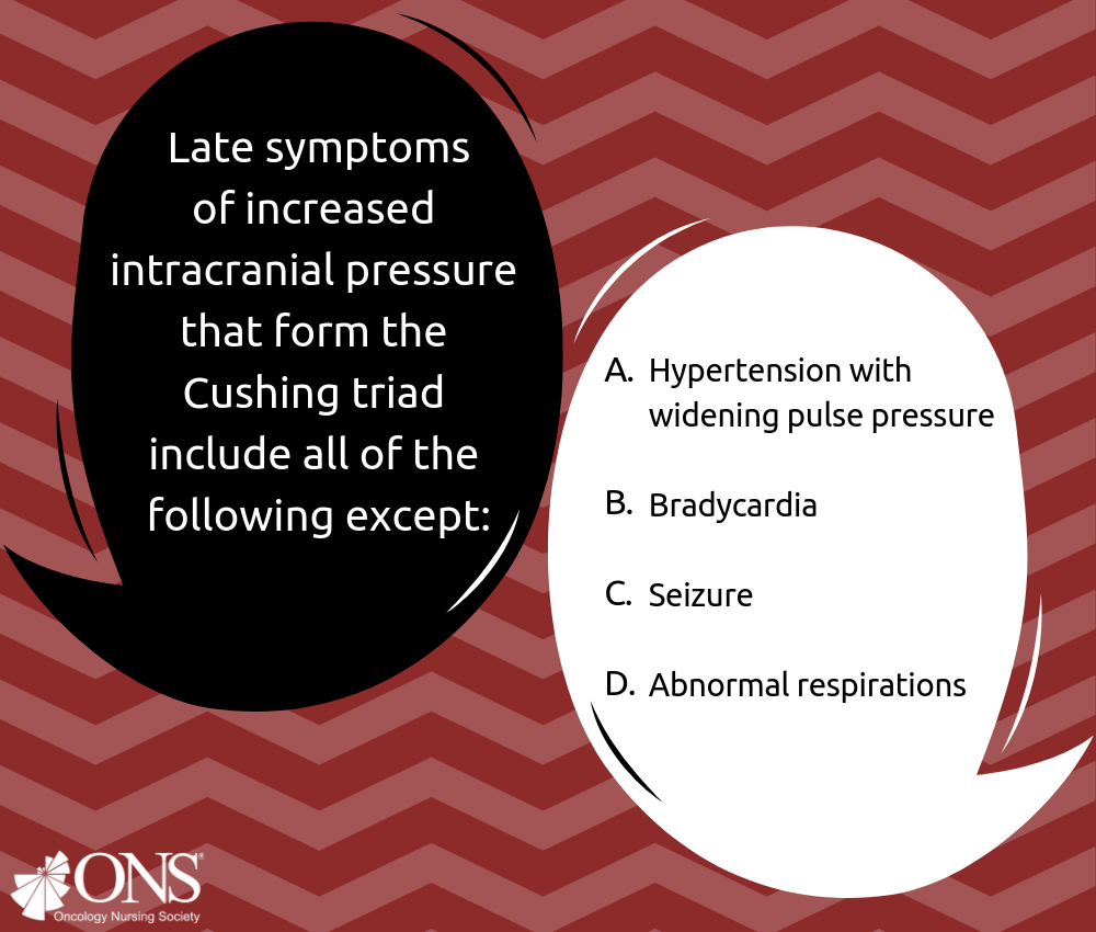 Which of the Following Late Symptoms of Increased Intracranial Pressure Is Not Included in the Cushing Triad?