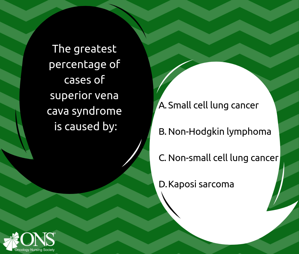 Which of the Following Leads to the Greatest Percentage of Superior Vena Cava Syndrome Cases?