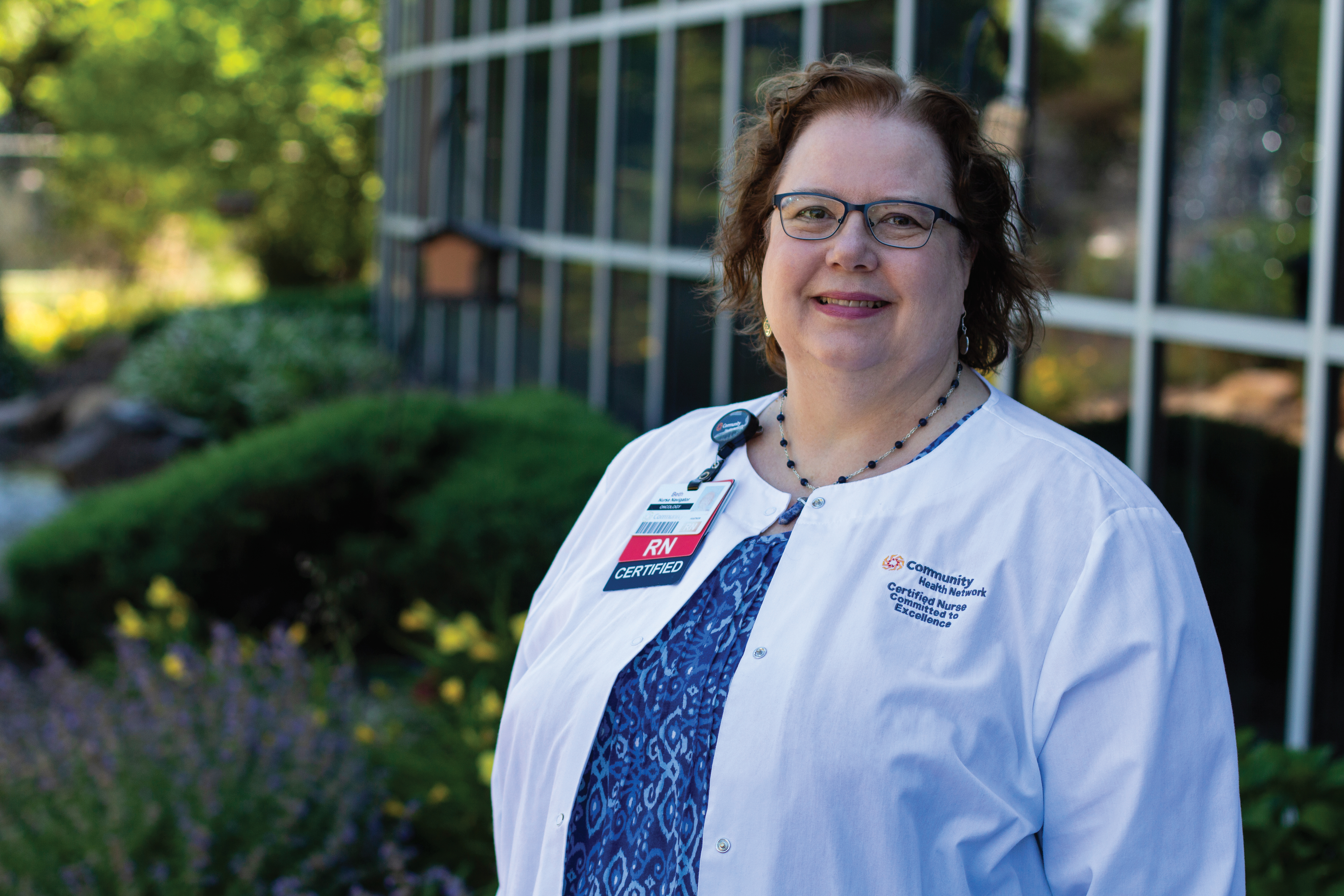 ONS member Beth Staker, BSN, RN, CBCN®, ONN-CG, a nurse navigator for Community Cancer Center South in Indianapolis, IN