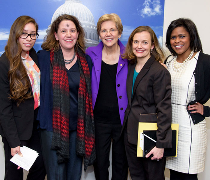 ONS members with Senator Warren