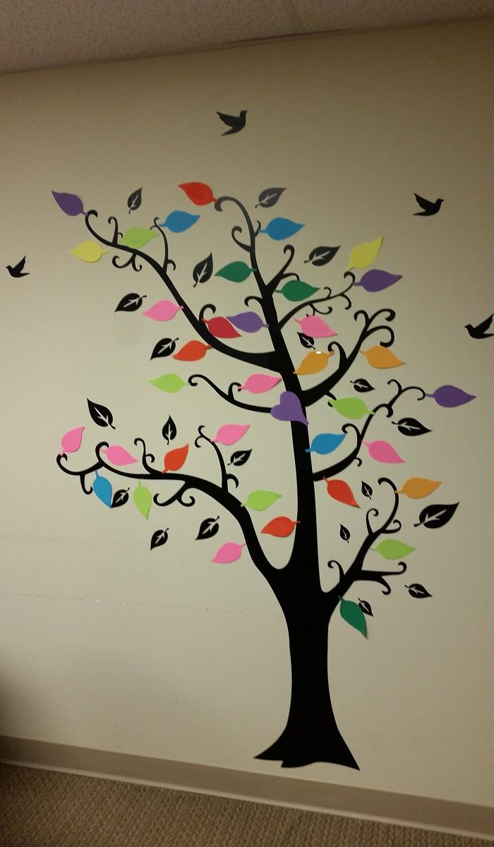 A rememberance tree for cancer patients
