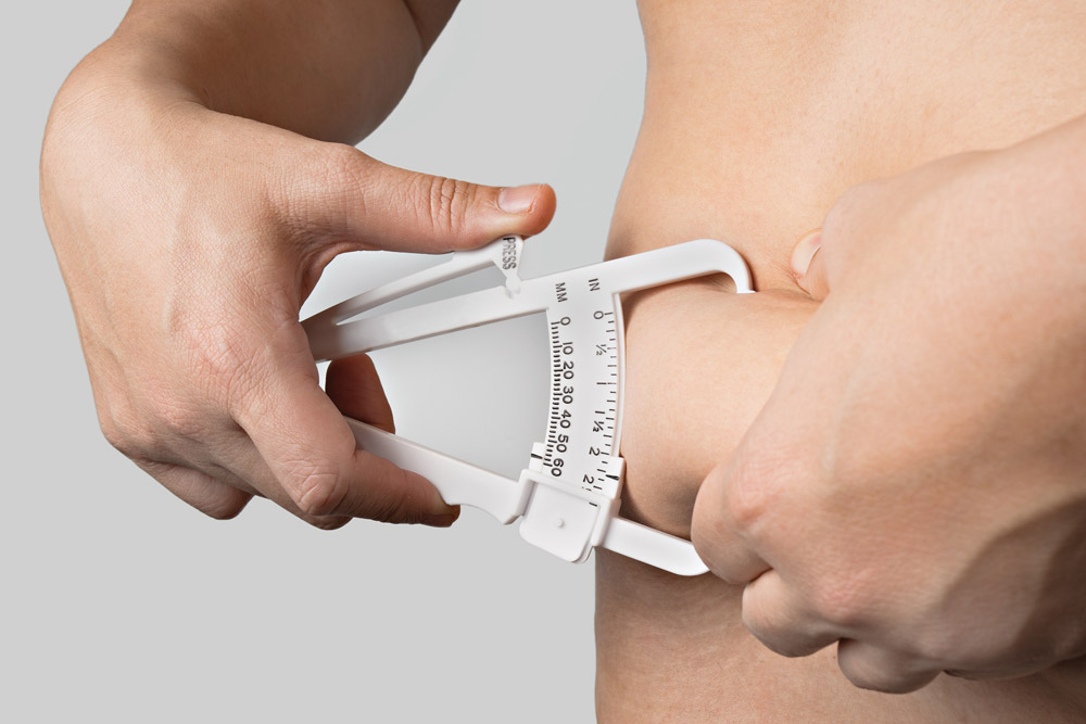 calipers measuring fat