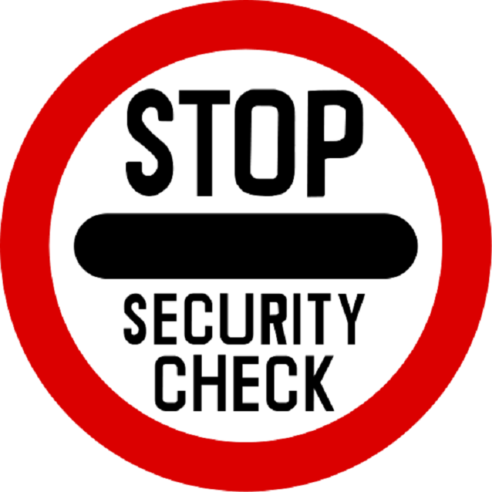 Healthcare security check icon
